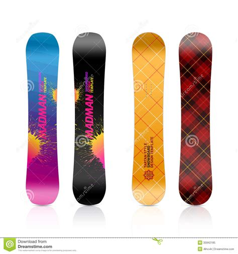 snowboard design template snowboard design royalty free stock photo image 35942185