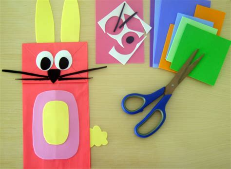 Paper Bag Puppets - animal paper bag puppets bunch