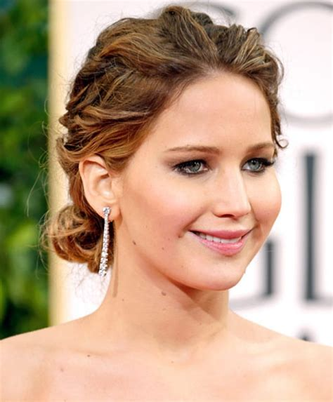 hairstyles golden globes jennifer lawrence red carpet hairstyles we love us weekly