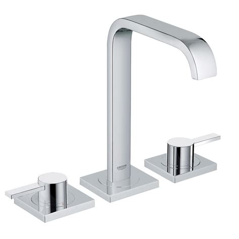 shop grohe parkfield starlight chrome 2 handle widespread bathroom faucet drain included at grohe parkfield 8 in widespread 2 handle bathroom faucet