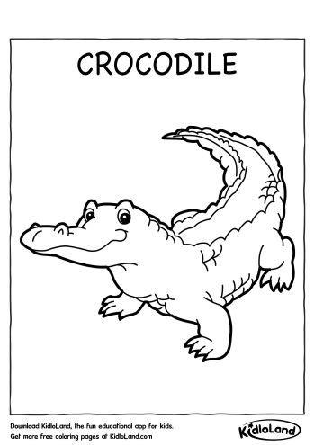 alligator coloring pages preschool preschool crocodile coloring page murderthestout