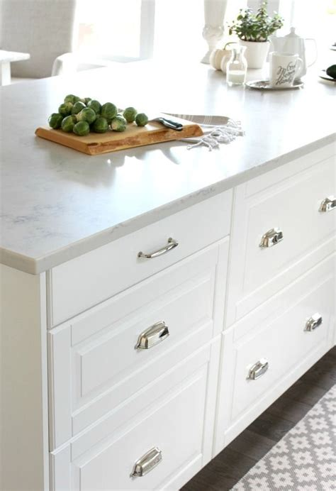 kitchen island with drawers canada canadian fall home tour white ikea kitchen countertop