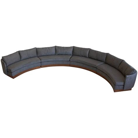 semi round sectional sofa custom semi circular sectional by carson s of north