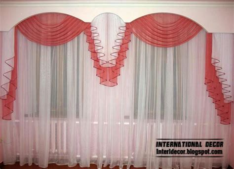 red and white curtain curtains catalog designs styles colors for living room