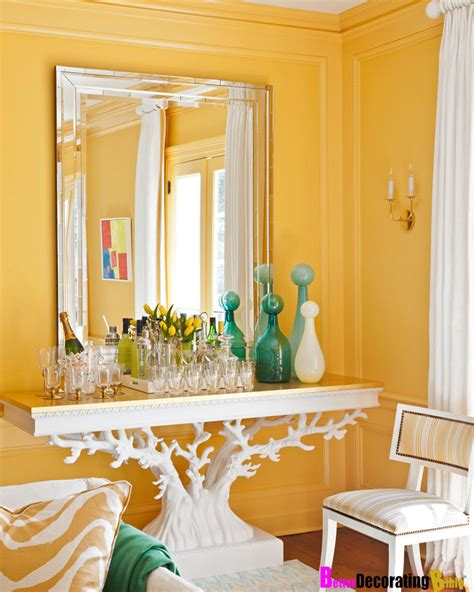 home design with yellow walls betterdecoratingbible home interior d 色のついた壁が素敵な部屋