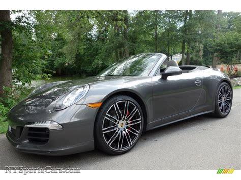 grey porsche 911 convertible 2015 porsche 911 carrera 4s cabriolet in agate grey