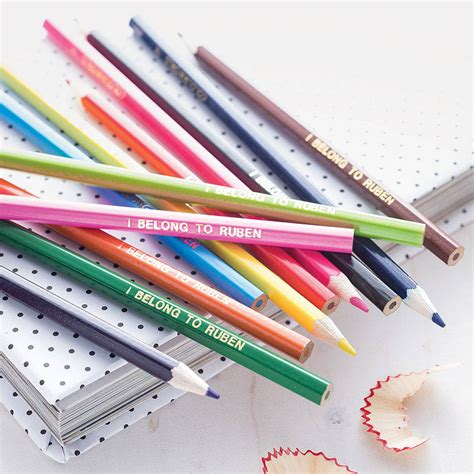 personalised colouring pencils by able labels