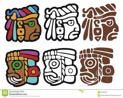 imagenes de caras mayas glyphs mayas del estilo ilustraci 243 n del vector imagen de