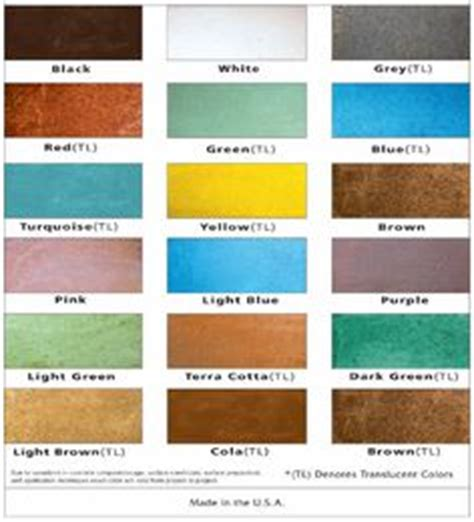 1000 images about water based concrete stain color charts on water based concrete