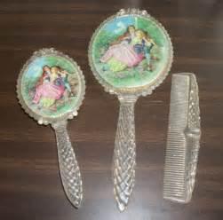 Vintage Vanity Set For Sale Vintage Antique Vanity Set Plastic Mirror Brush And