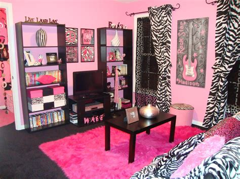 black and pink bedroom accessories fashionable teen hangout lounge design dazzle