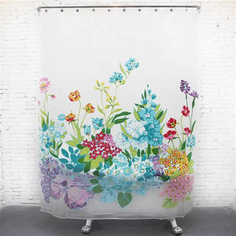 shower curtain flowers thick eva waterproof floral long shower curtains