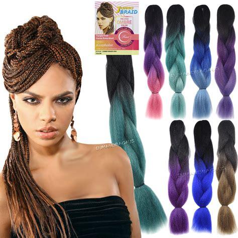 femi kanekalon braiding hair 3pc femi collection ombre two tone jumbo braid kanekalon