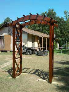 Garden Arch Plans Wood Rustic Arbor Plans Rustic X Wedding Arch Do It