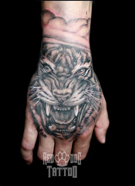 tiger hand tattoo by reddogtattoo on deviantart
