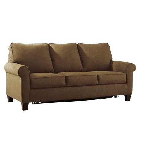 full size sofa sleeper ashley zeth fabric full size sleeper sofa in basil 2710336