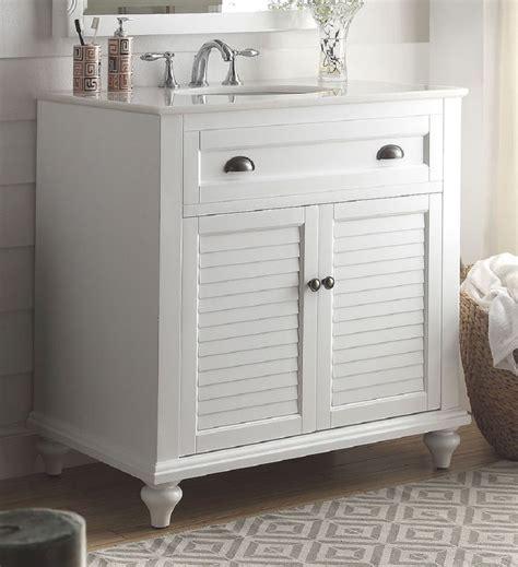34 Bathroom Vanity 34 Inch Bathroom Vanity Coastal Cottage House White Color 34 Quot Wx22 Quot Dx35 Quot H Cgd28667w34