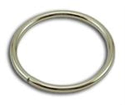metal o rings 2 inch wide silver by the bag