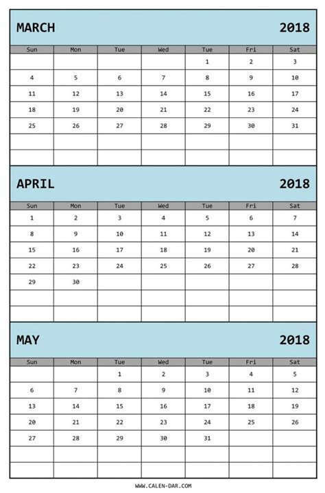 new printable 3 month calendar march april may 2016 calendar 3 month calendar 2018 printable calendar templates 2018