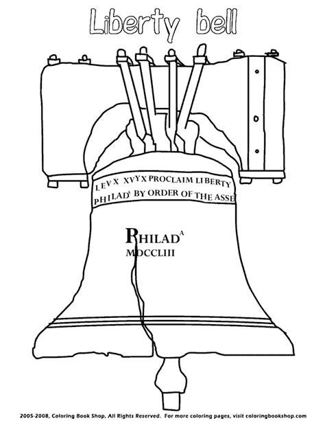 Liberty Bell Coloring Page Printable by Happy Independence Day Printable Coloring Pages Liberty