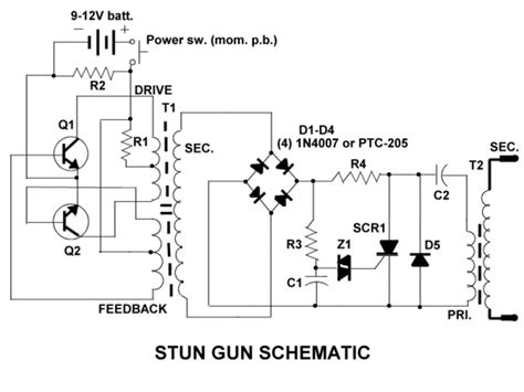 free taser stun gun schematics and plans