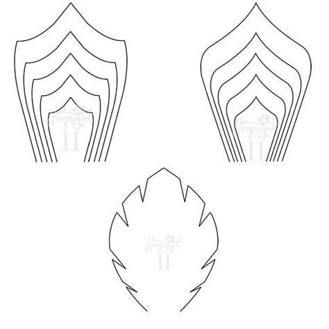 Pdf Set Of 2 Flower Templates And 1 Leaf Template Giant Paper Flower Template Flower Wall Pdf Paper Flower Template