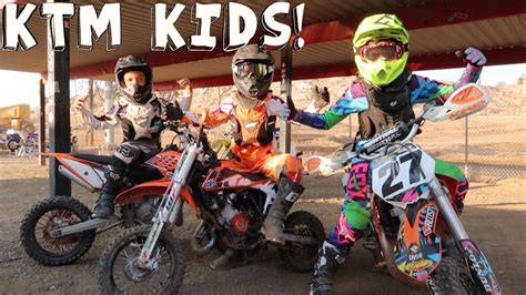 youth motocross bikes ktm kids on dirtbikes youtube