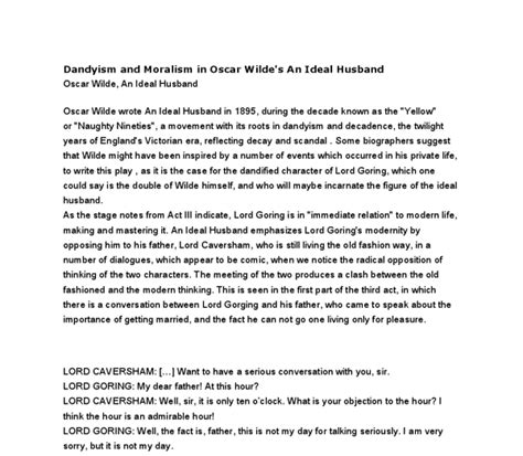 The Ideal Husband Essay by Ideal Husband Essay