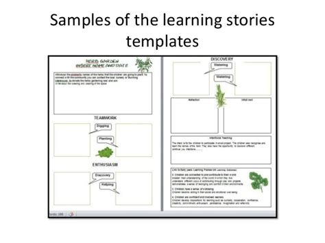 learning templates eylf learning stories template 5