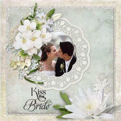 Wedding Album Scrapbook Ideas by Wedding Scrapbook Layouts The Digital