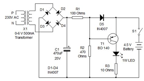 Rechargeable Led L Circuit Diagram by 4 5 V Battery Charger Electronics Forums