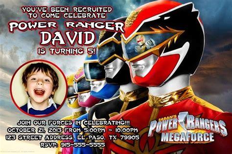 power ranger birthday party invitations dolanpedia