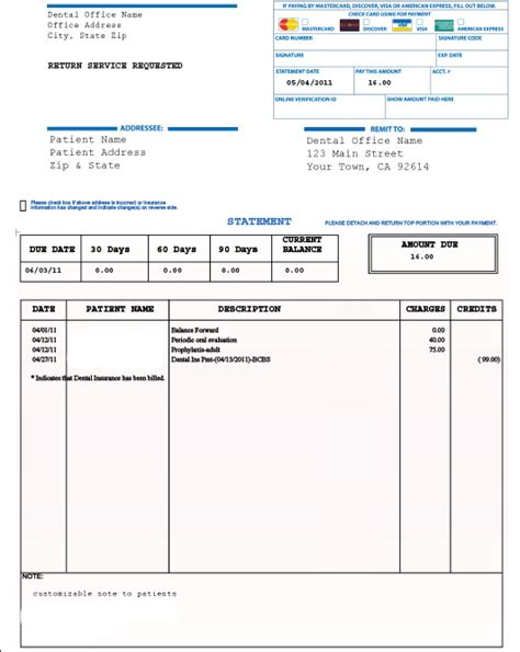 10 best images of patient invoice template