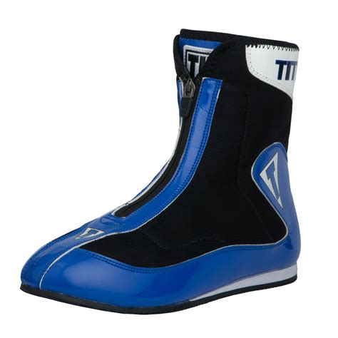 title boxing shoes title enrage mid boxing shoes blue