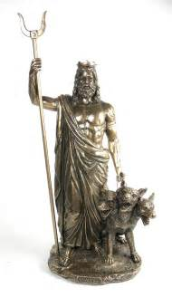 mythology statues bronze finish greek god hades and cerberus statue sculpture history buffs and mythology fans