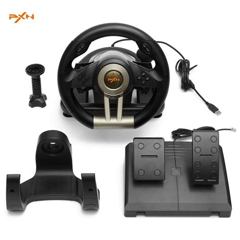 Pxn V3ii Vibration Motor Racing Steering Wheel With Pedal Pc Ps popular pc steering wheel pedals buy cheap pc steering