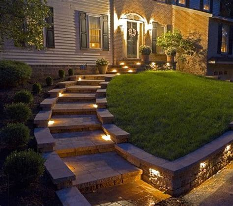 landscape lighting ideas walkways 27 outdoor step lighting ideas that will amaze you