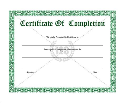 template certificate of completion sle template certificate of completion search results