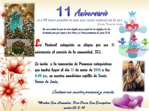 Calendario Xmatkuil 2014 Santa Teresa De Jesus 11 Aniversario Pastoral Catequistica