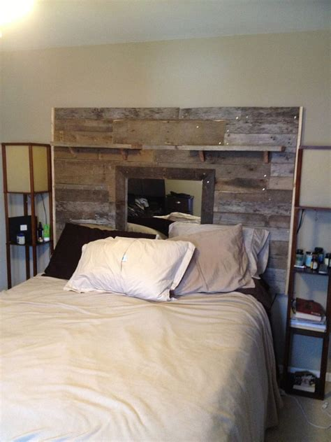 how to make a headboard out of pallets reclaimed pallet headboard