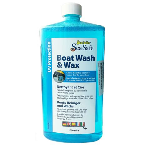 boat antifouling wax starbrite seasafe boat wash and wax 1ltr