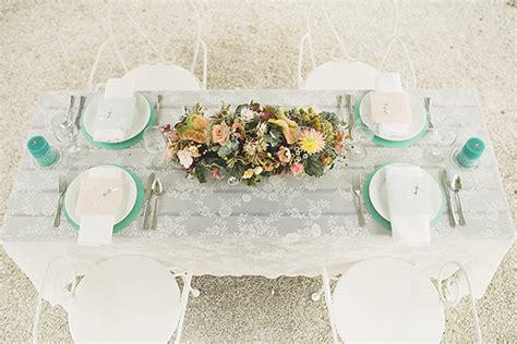 Hochzeitsdeko Mint Rosa by Eine Punkig Angehauchte Hochzeitsdeko In Mint Und