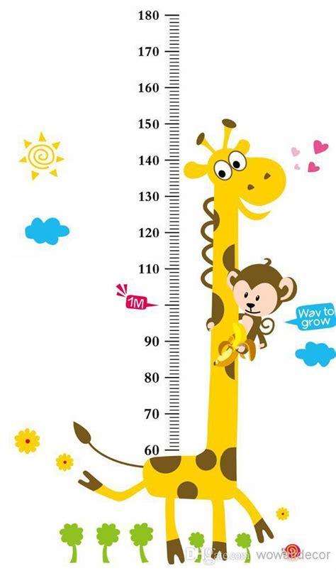 Printable Animal Height Chart   growup monkey giraffe animals height measurement growth