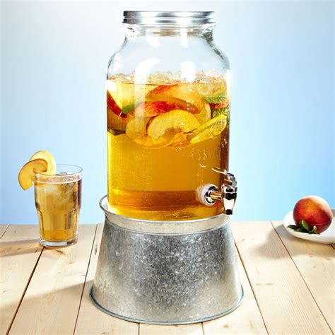 Mason Jar Beverage Dispenser with Party Tub / Stand   The