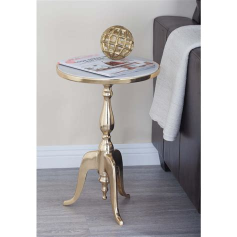 round white accent table classic round white marble accent table 68998 the home depot