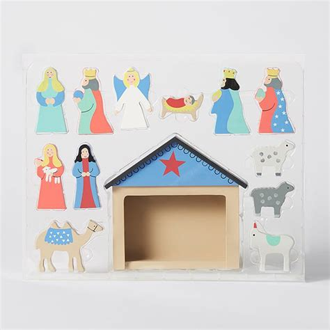 target nativity scene decorations wooden nativity target australia