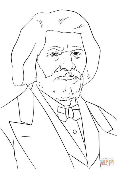 Frederick Douglass Coloring Page frederick douglass coloring page free printable coloring