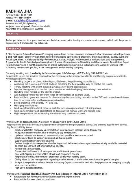 Resume Sls Radhikajha Resume