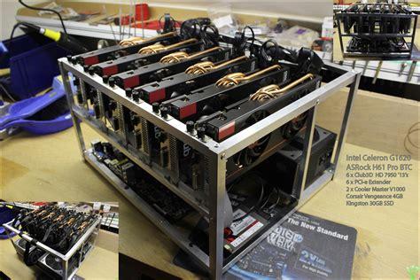 Rakitan Mining 1 By Xtreme System 20 aluminum miner frame for 6 gpu s