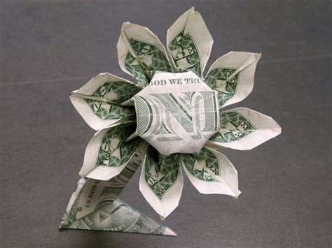 Dollar Bill Origami Flower - dollar bill flower flickr photo